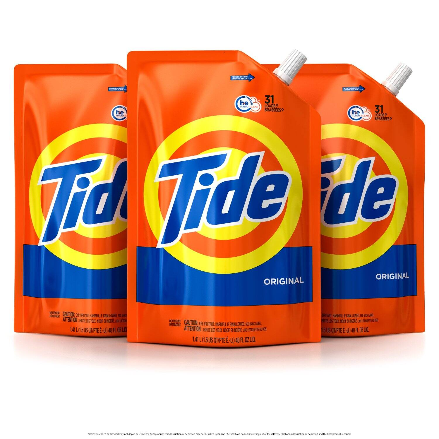 Prime Members: 3-Pack 48oz Tide HE Liquid Laundry Detergent Pouches (Original or Free & Gentle) $14.09 or Less + Free Shipping Amazon.com