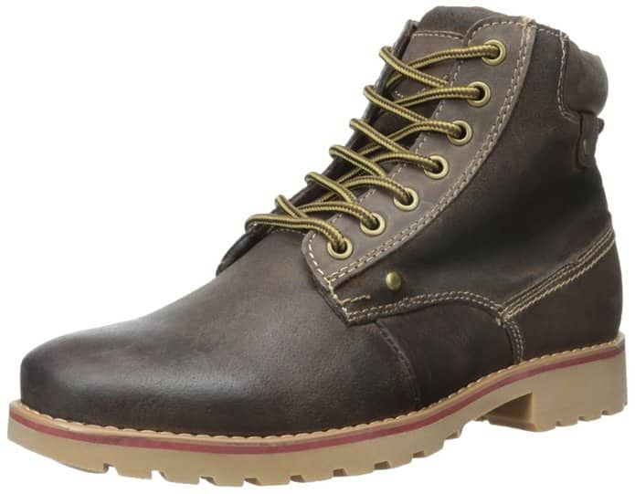 Men's Steve Madden Canterr Leather Boots (Black or Brown)  from $12 (Select Sizes)