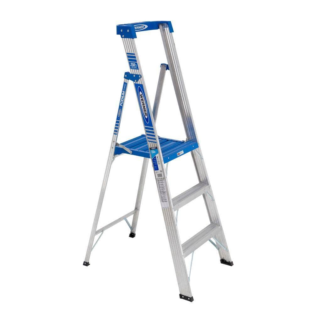 Werner 9' Reach Aluminum Podium Step Ladder w/ 250 lbs. Load Capacity  $20 + Free Store Pickup