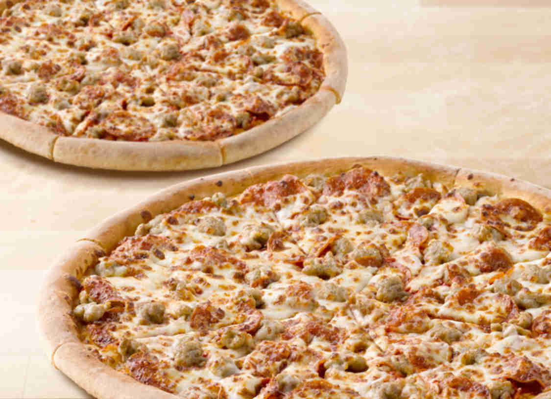 Papa Johns 2 Large 2 Topping Pizzas for $16