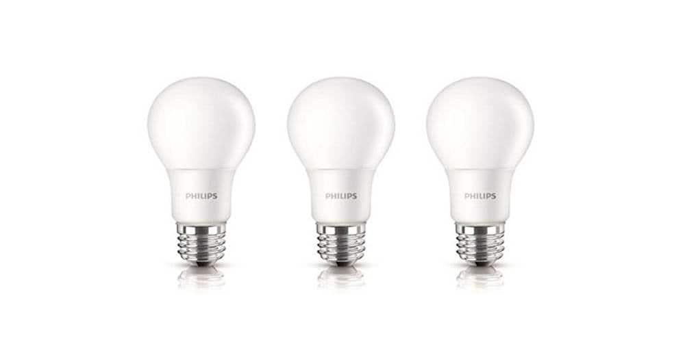 Philips 100W Equivalent A19 LED Soft White Light Bulb, 3-Pack $17.99 @Amazon
