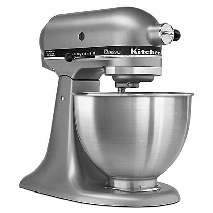 KitchenAid KSM75SL Classic Plus 4.5 Qt. Silver Stand Mixer for  $247 with $142 back in SYWR Points