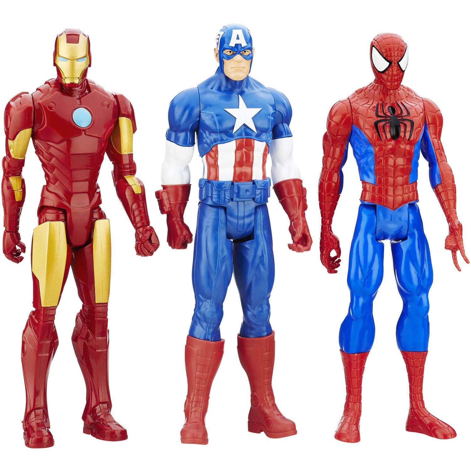 """3-Pack Marvel 12"""" Titan Hero Series Figures (Captain American, Iron Man, Spider-Man) all for $15 with free shipping"""