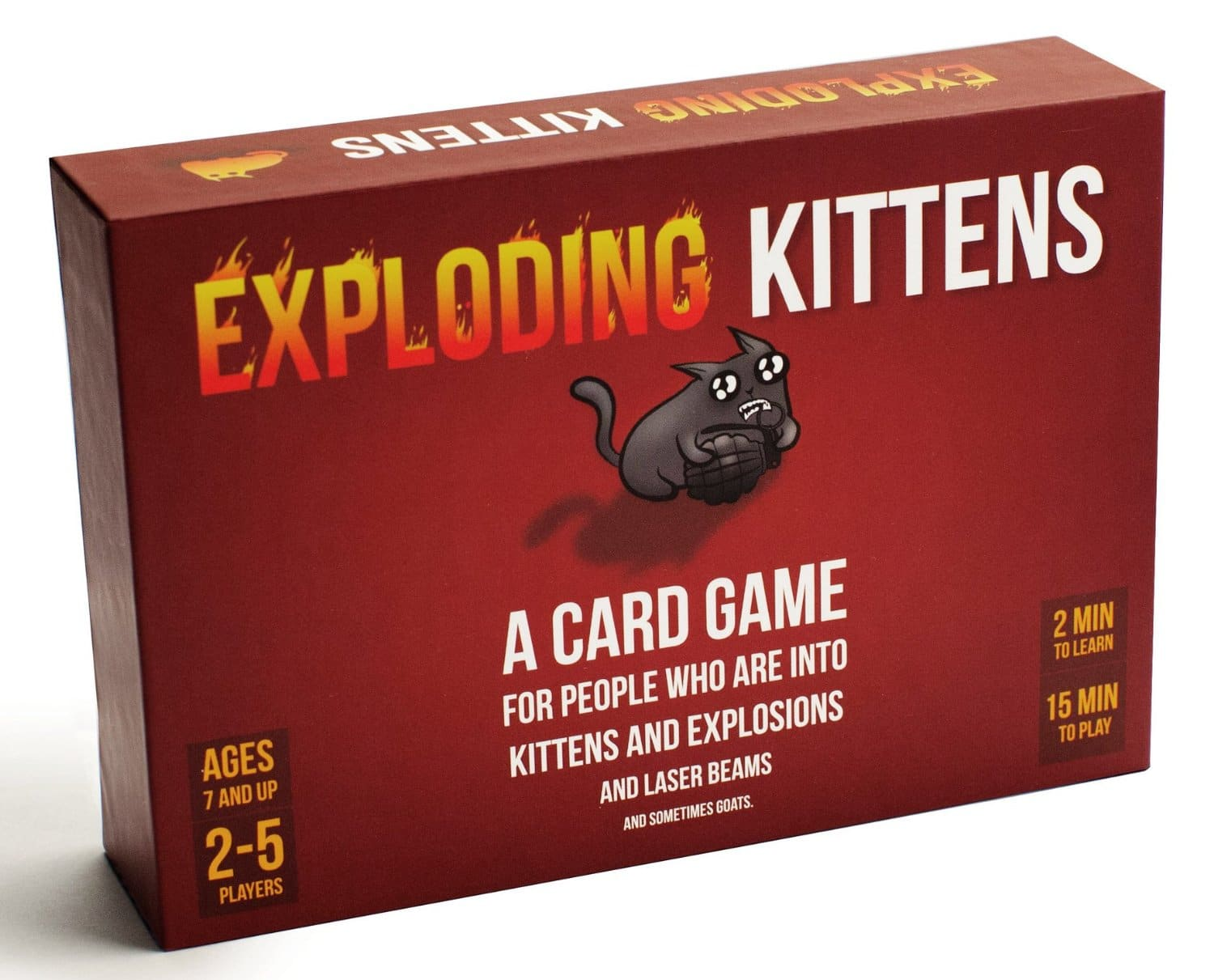 Prime Members: Exploding Kittens: Card Game  $15 + Free Shipping