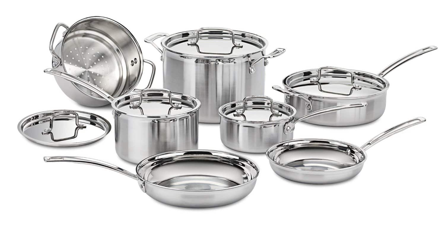 12-Piece Multiclad Pro Tri-Ply Stainless Steel Cookware Set  $199 + Free Shipping