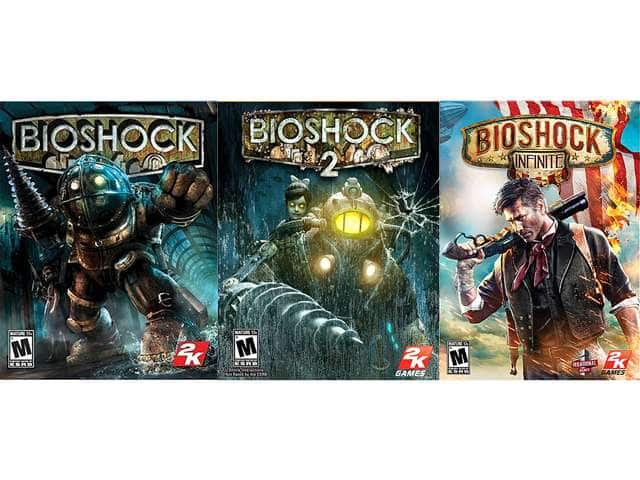 Bioshock Triple Pack (1 + 2 + Infinite) (Online Game Codes) for $9.00 AC @ Newegg.com