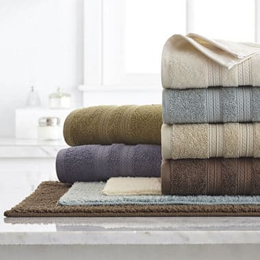 Home Expressions Solid Bath Towel $2.55 each + free same day pickup at JCPenney