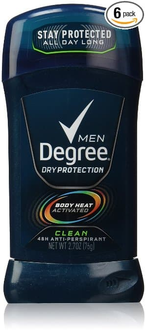 6-Pack of 2.7oz Degree Men Antiperspirant (Clean)  $4.25 + Free Shipping