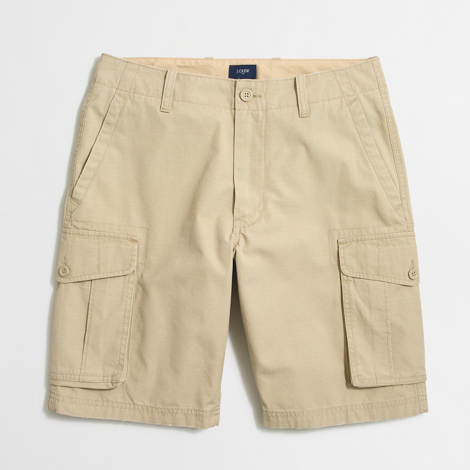 Factory Men's Cargo Shorts $9.99 AC + FS @ J. Crew Factory