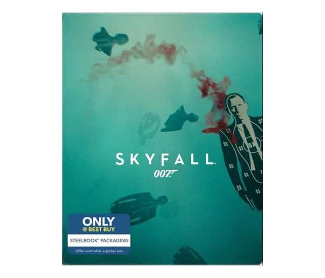 James Bond Steelbook Blu-rays + Digital HD: Skyfall, Casino Royale, Quantum of Solace + More $7.99 each + Free Shipping on $35