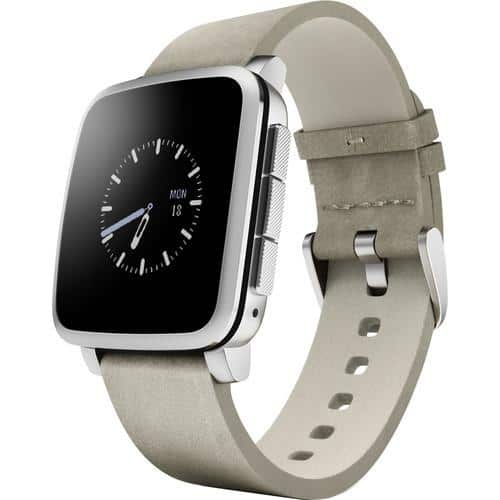 Pebble Time Android iOS Smart Watch: Time Round for $130 or Time Steel $140 + Free Shipping!