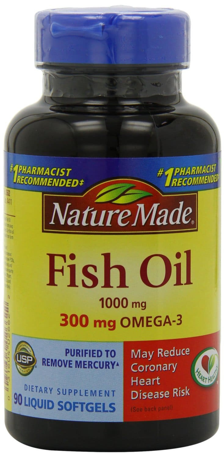 $3.27 Nature Made Fish Oil Softgel Omega-3, 1000mg, 90 Softgels, by amazon.com