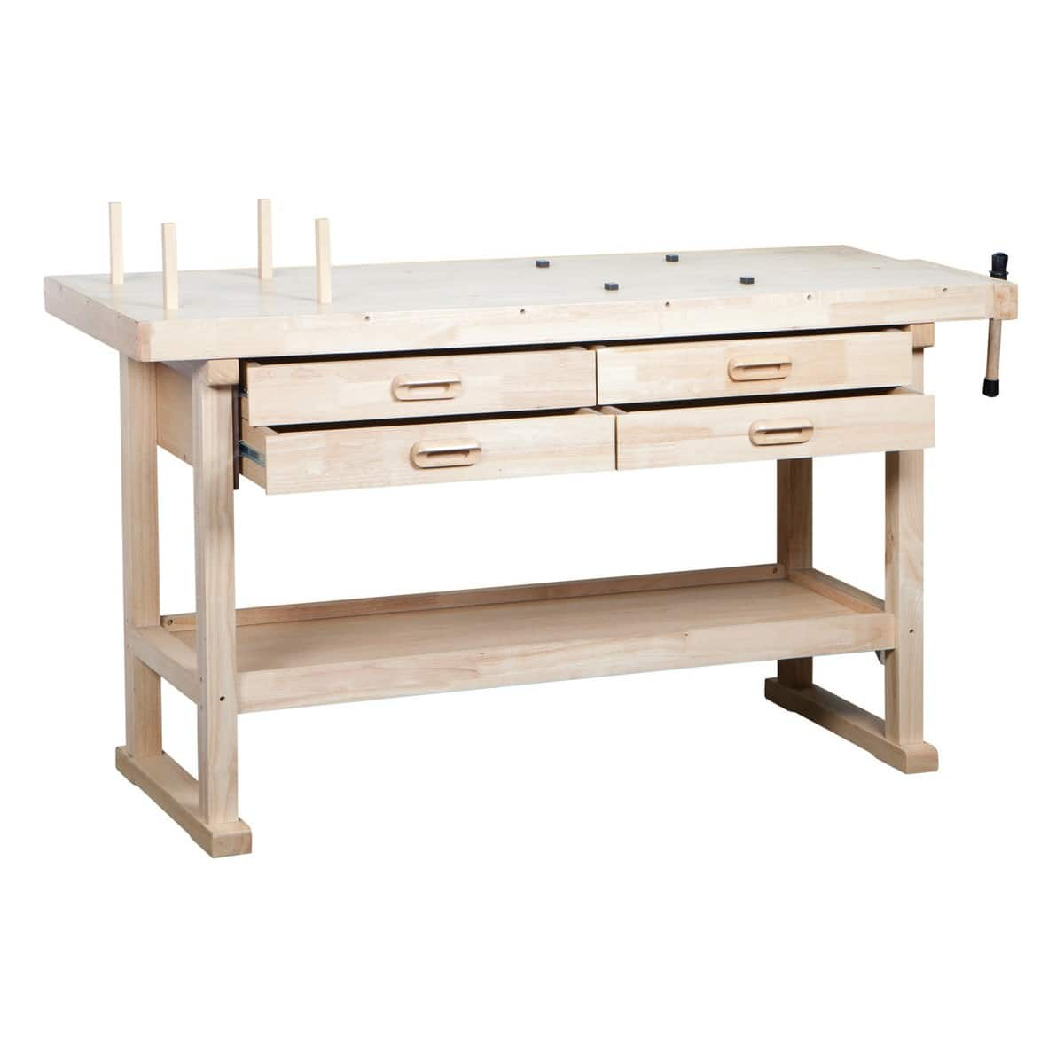 Harbor Freight 60 in. 4 Drawer Hardwood Workbench for $119.99 with coupon code