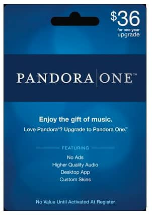 1-Year Pandora One Subscription Card - Slickdeals.net