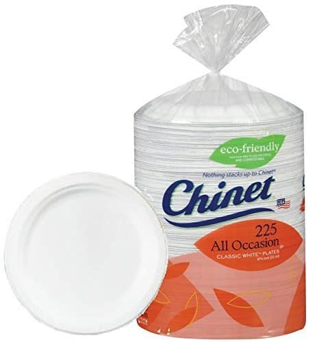 Chinet Big Party Pack, Heavy Weight Paper Plates, Classic White,225 Count $14.98 F/S with Prime