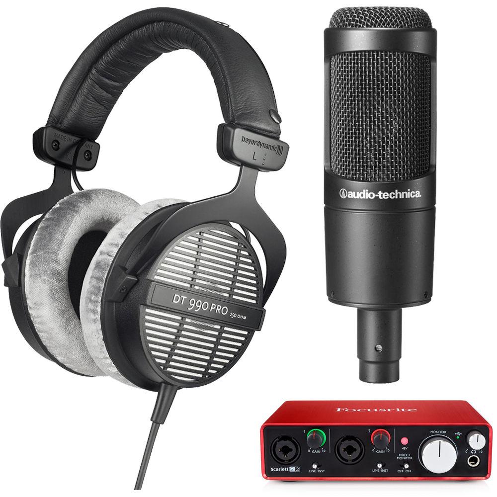 BeyerDynamic Headphones: T90 Chrome Exclusive Limited Edition $299, DT 990 Premium Headphones $135, DT-990-Pro-250 w/ Audio-Technica Microphone + Interface Bundle $289 + FS!