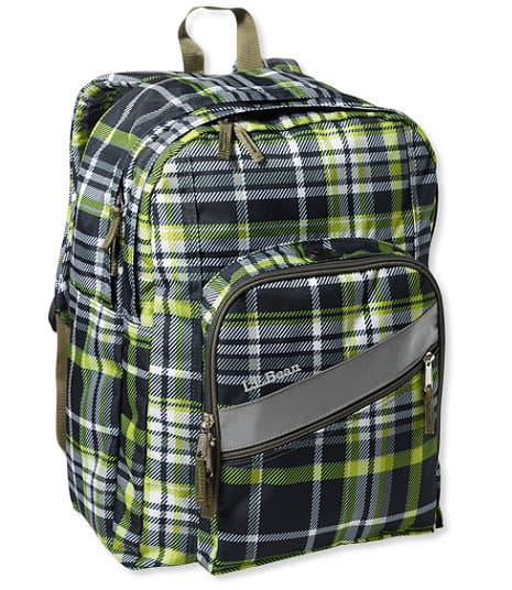 *price drop* LLBean Deluxe Book Pack (Black/Kiwi Plaid) $13.50 + free shipping