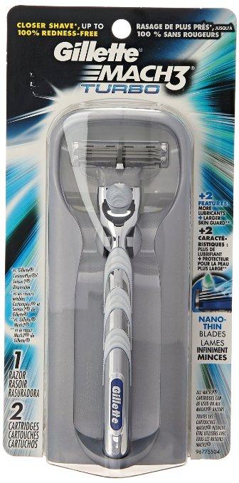 Gillette Mach3 Turbo Men's Razor w/ 2 Razor Cartridges  $4.60 + Free Shipping