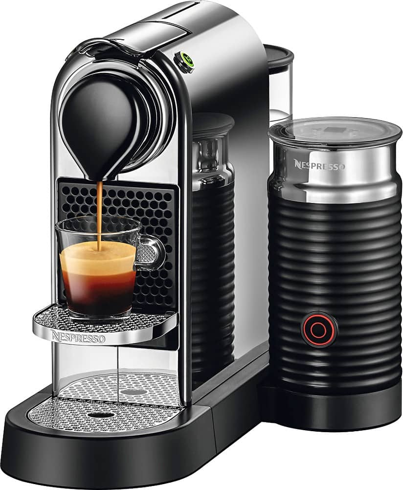 nespresso citiz milk espresso maker chrome or red. Black Bedroom Furniture Sets. Home Design Ideas