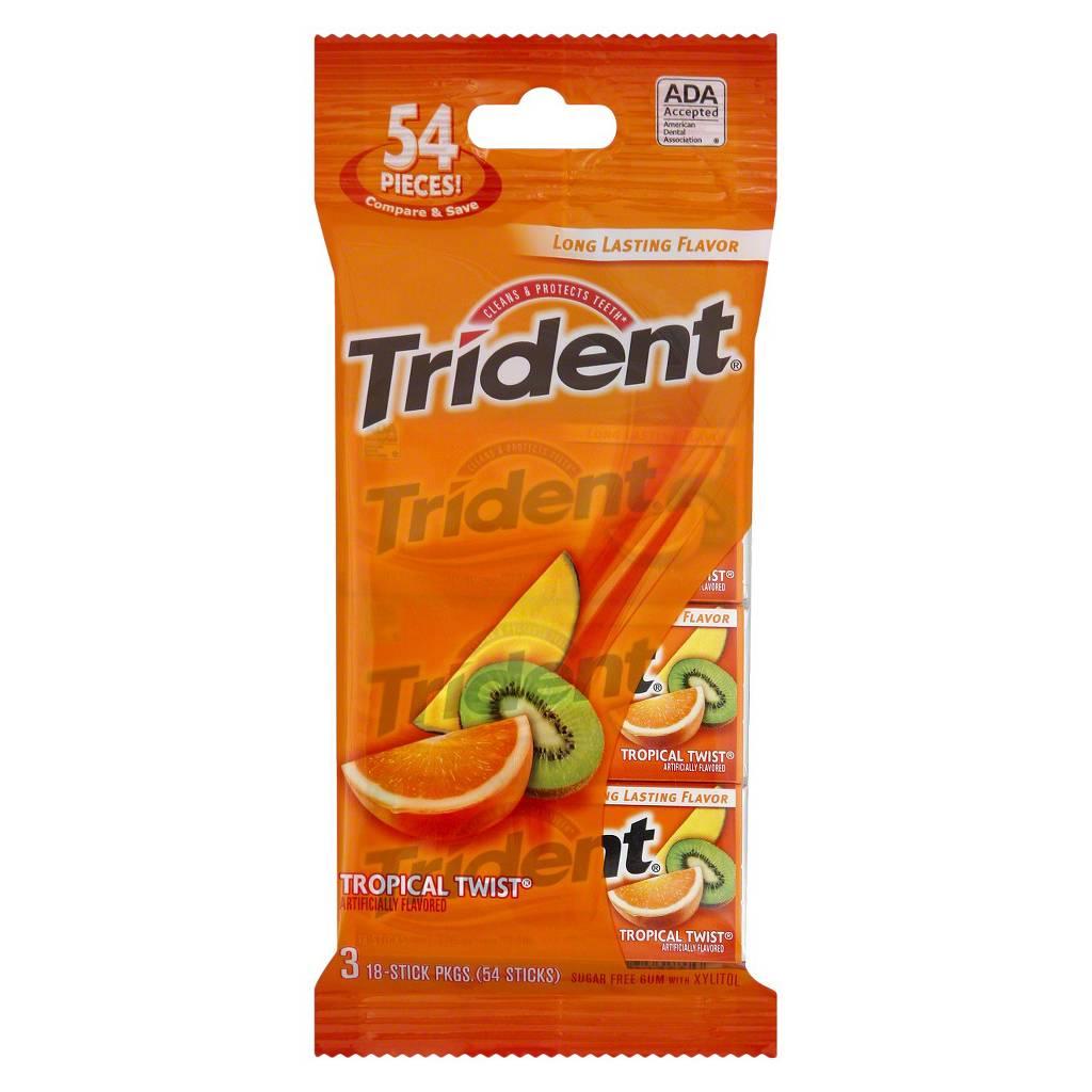 3-Pack of Trident Gum $0.70 After Coupon & Cartwheel @ Target B&M