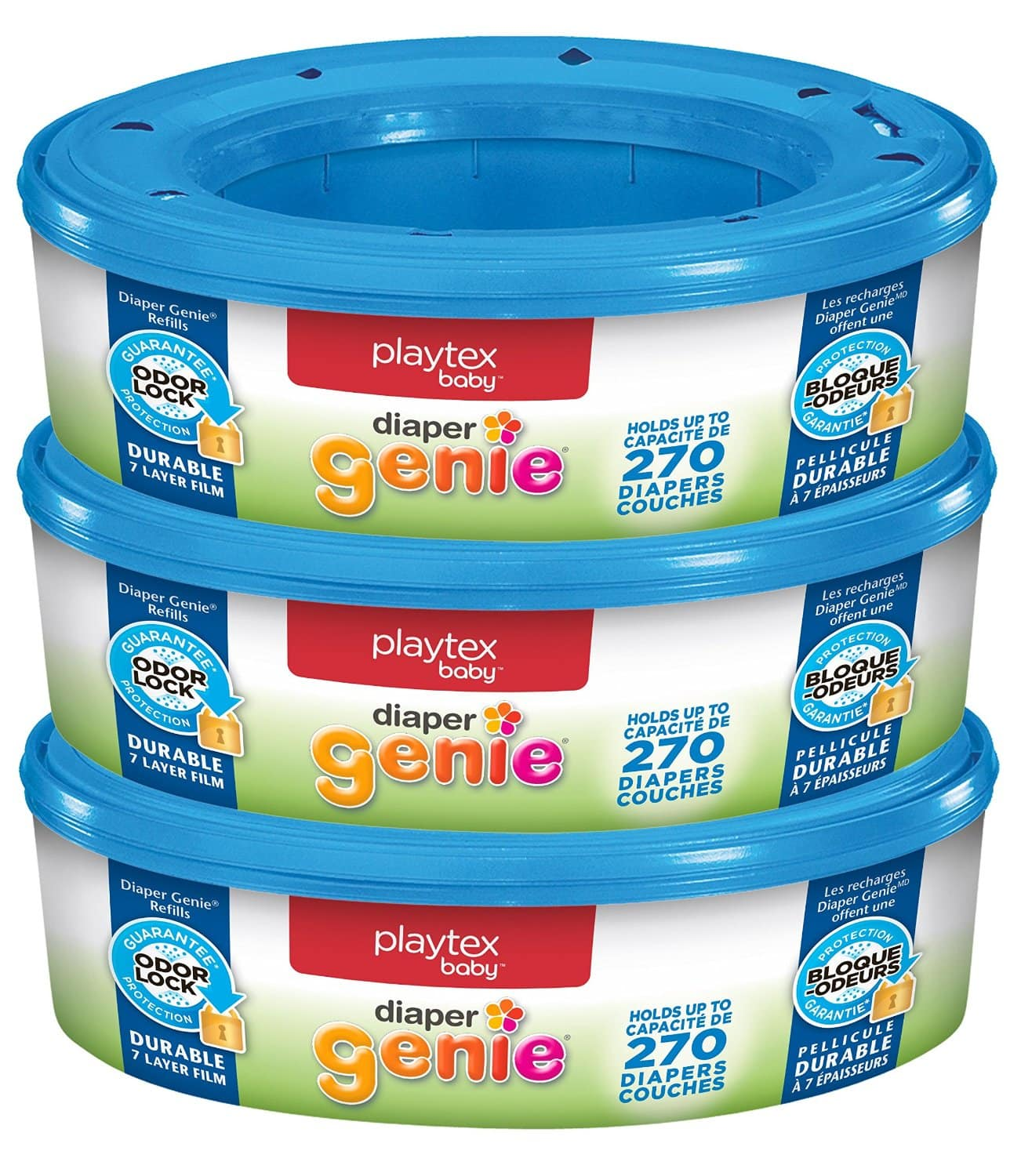 3-Pack of 270-Count Playtex Diaper Genie Refill $14.79 + Free S/H @Amazon