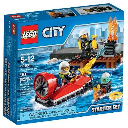 Lego City: 4x4 Off Roader $12.40, Fire Starter Set  $6.40 + Free Store Pickup