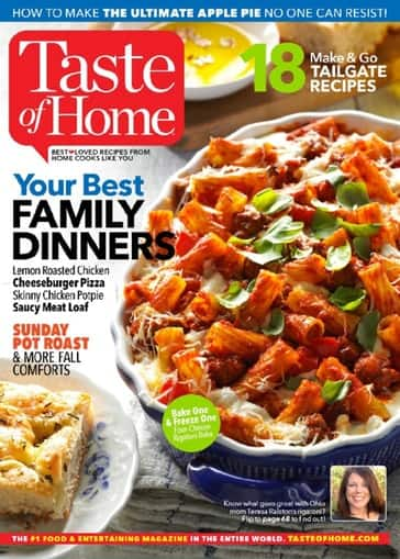 Taste of Home $4.99 per year, Saveur $4.99 per year, Cooking Light $9.99 per year