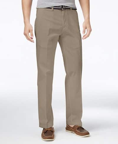 Perry Ellis Portfolio Flat Front Pants $16, Haggar Straight-Fit Pants  $13.60 & More