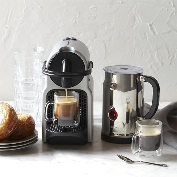 Nespresso Inissia Espresso Maker w/ Aeroccino + Milk Frother (Silver)  $100 or less + Free Shipping