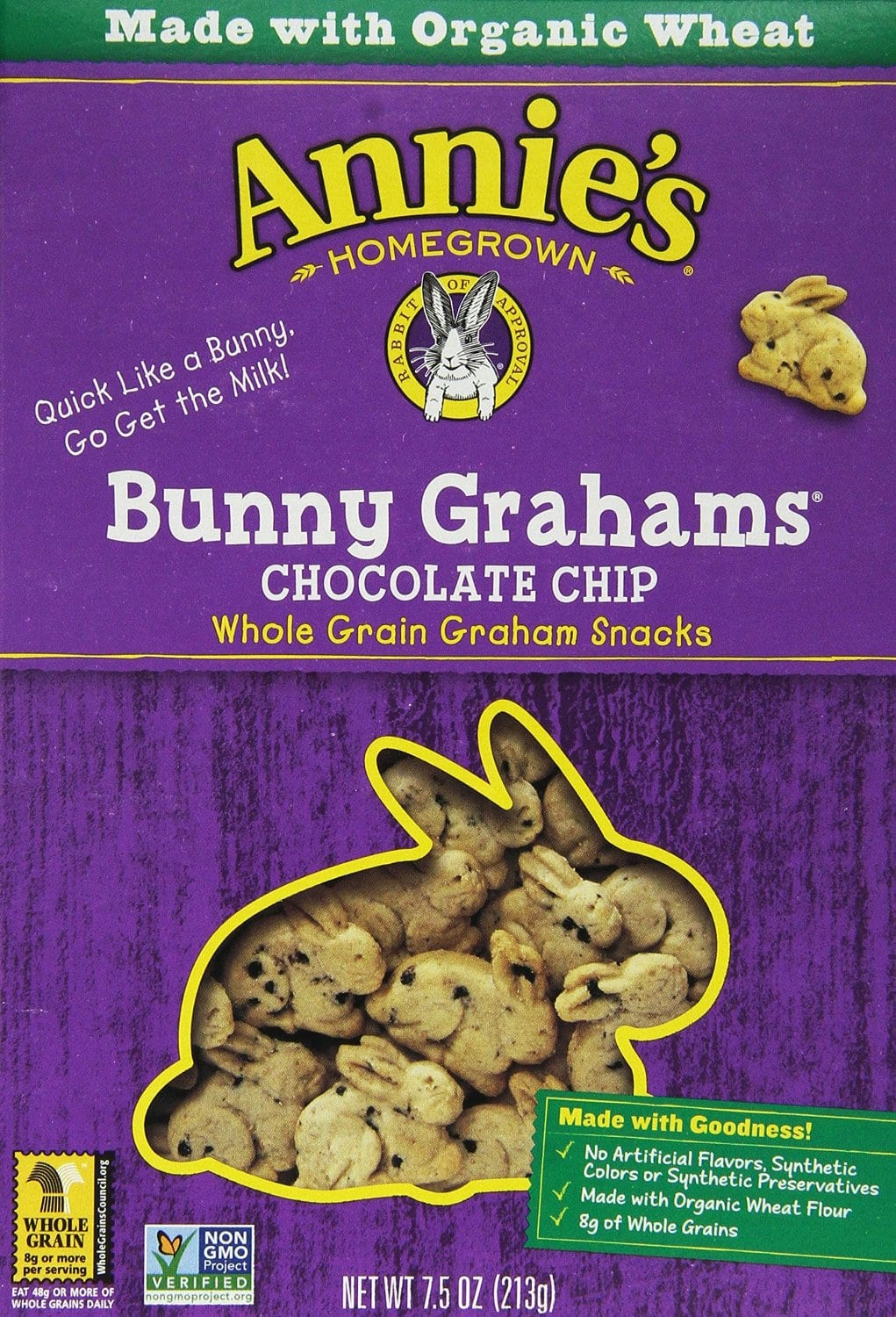 Annie's Homegrown Bunny Grahams Chocolate Chip, 7.5-Ounce Boxes (Pack of 12) $8.38 with s&s