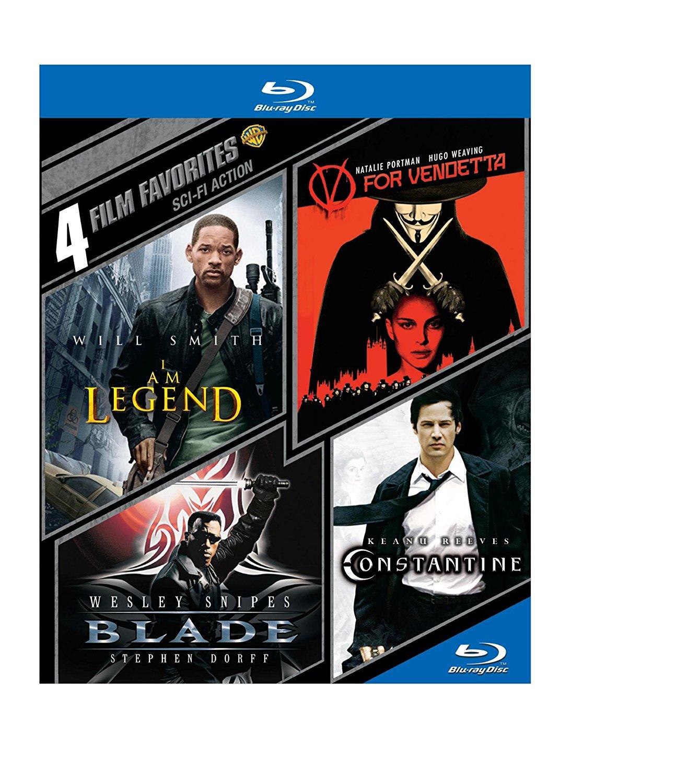 4 Film Favorites: I Am Legend / V for Vendetta / Blade / Constantine [Blu-ray] $3.74 FSSS or FS with prime