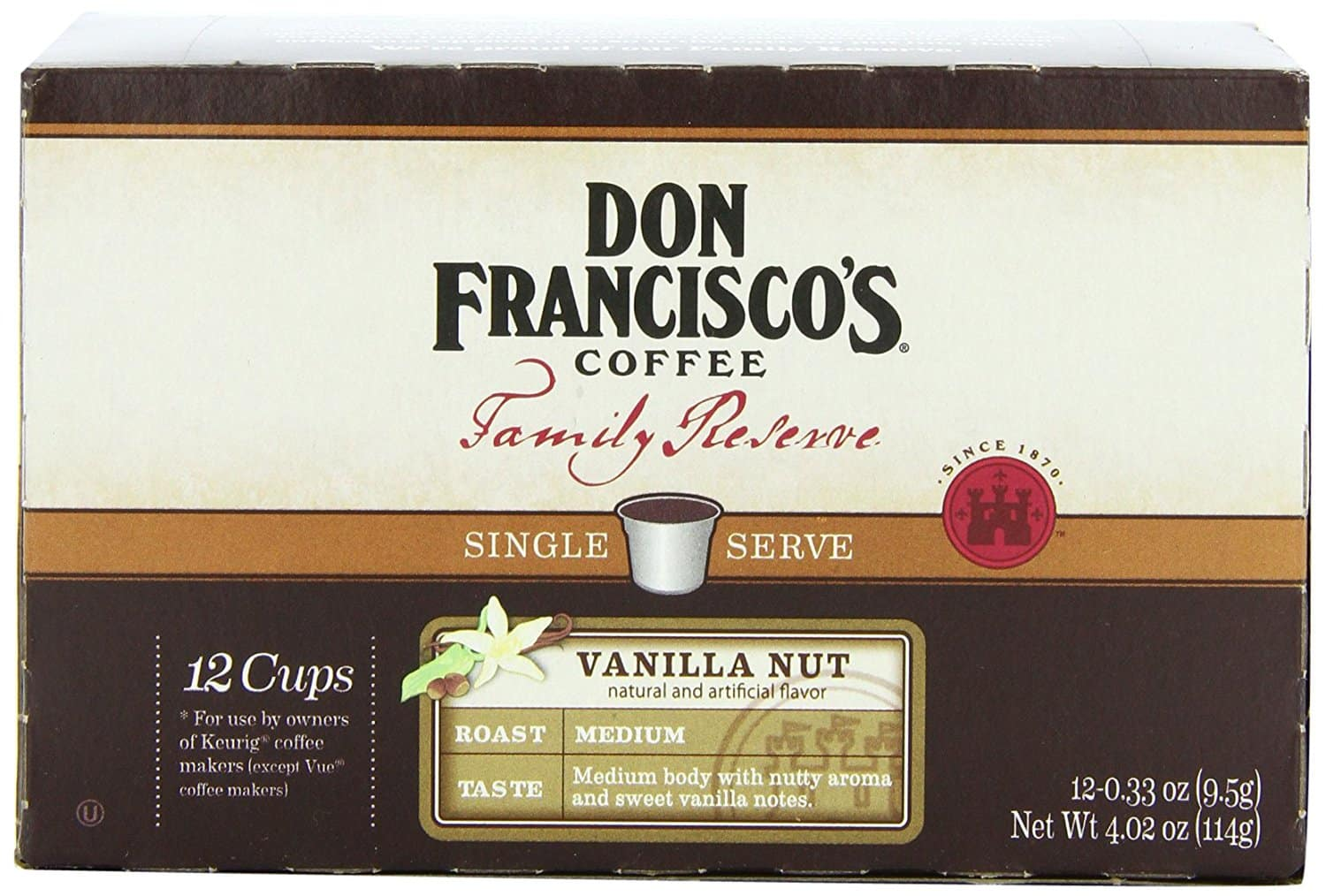 12-Count Don Francisco Family Reserve Single Serve Coffee (Vanilla Nut or Breakfast Blend) $2.12 + Free Shipping