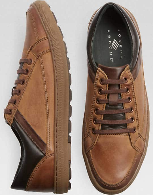 Men's Wearhouse: 2 x Joseph Abboud Tan or Gray Lo-Top Sneakers - $74.98 Plus Free Shipping on $99+