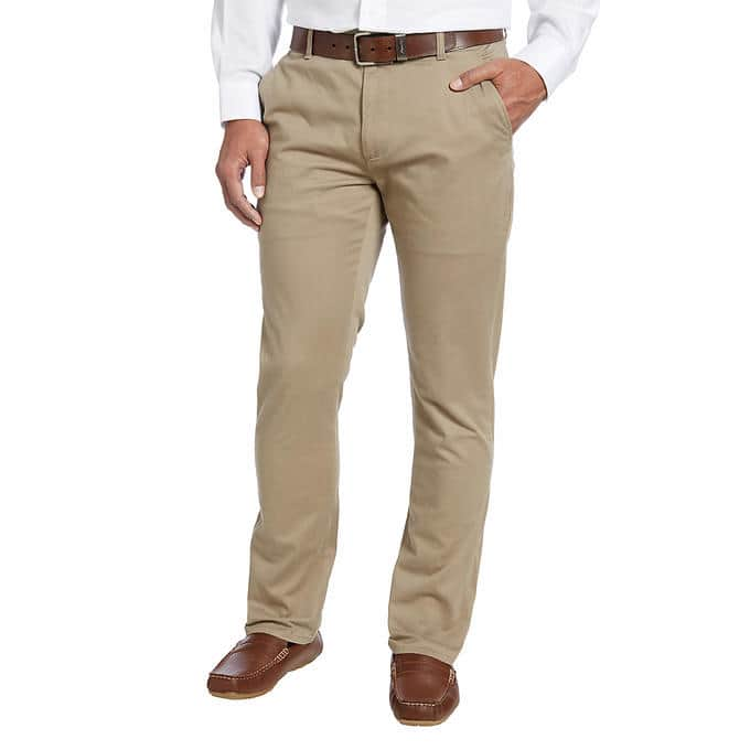 Kirkland Signature Men's Flat Front Chino $13.60 or Non-Iron Pants  $10.50 or less + Free S&H