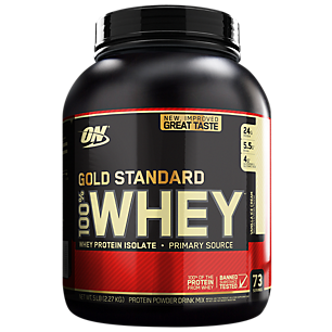 Two (2) 5-lbs Optimum Nutrition 100% Whey Protein Powder + Bonus Gold Standard Pre-Workout (Various Flavors) $92.78