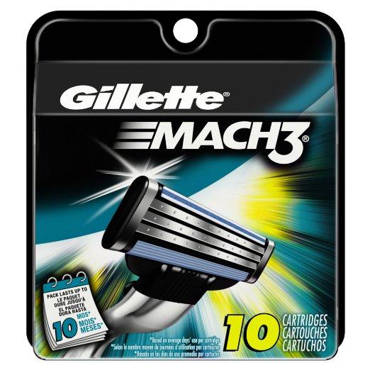 10-Count Gillette Mach3 Men's Razor Blade Refills $7.07 with 5% S&S