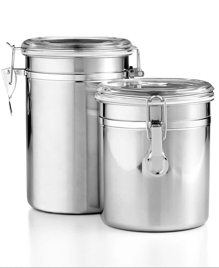 Set of 2 Stainless Steel Food Storage Canisters by Tools of the Trade  $8.50 + Free Store Pickup