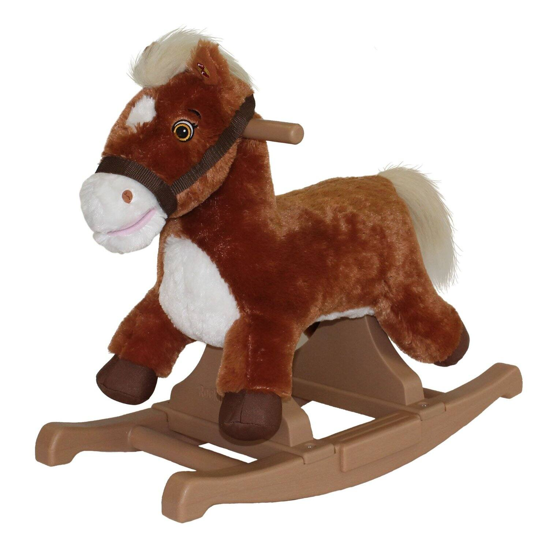 Rockin' Rider Brown Rocking Pony Ride-On $18.25 or Rockin' Rider Bull Rid-On $17.75 at Amazon