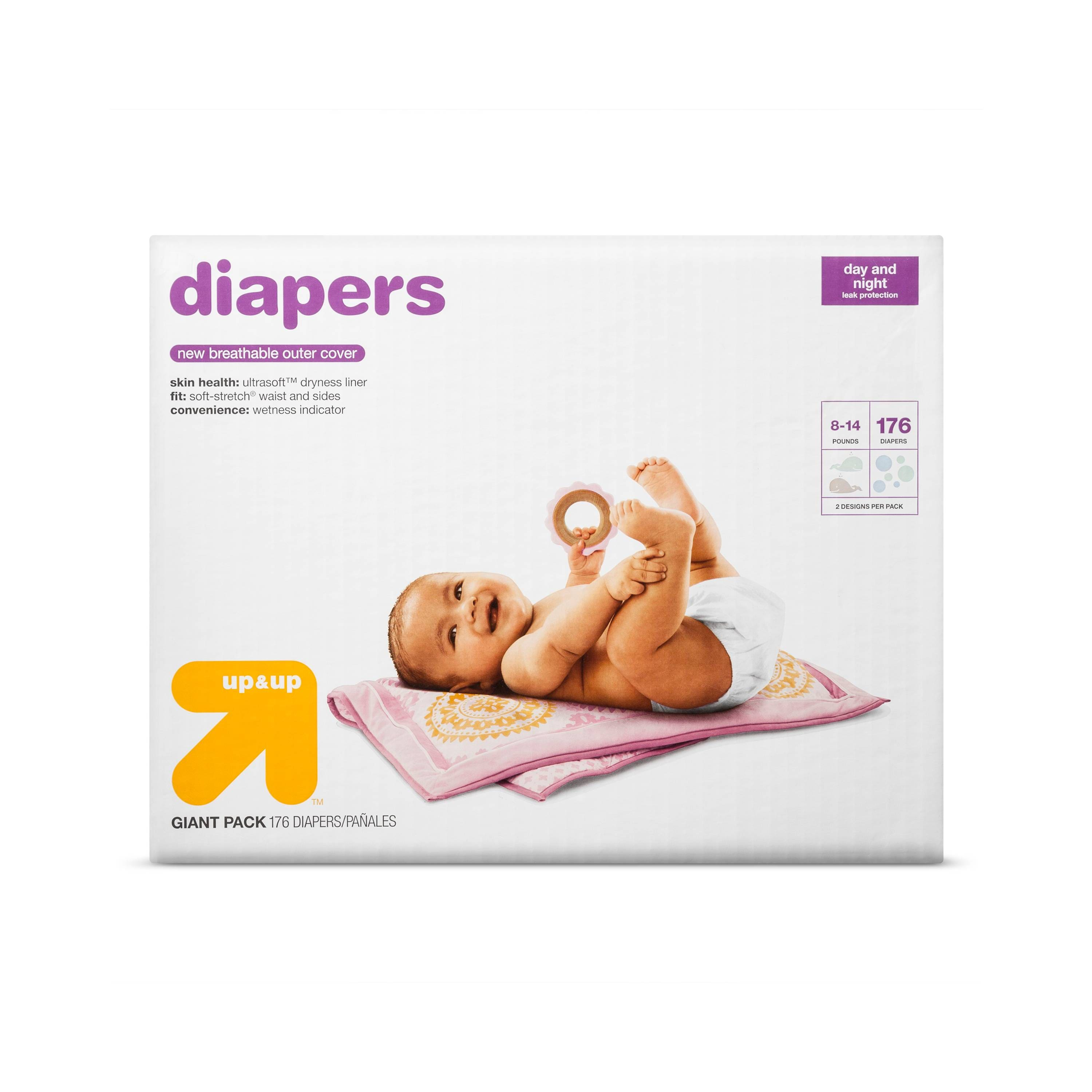2-Pack Up & Up Giant Pack Diapers + $15 Target eGift Card  $51 + Free Shipping