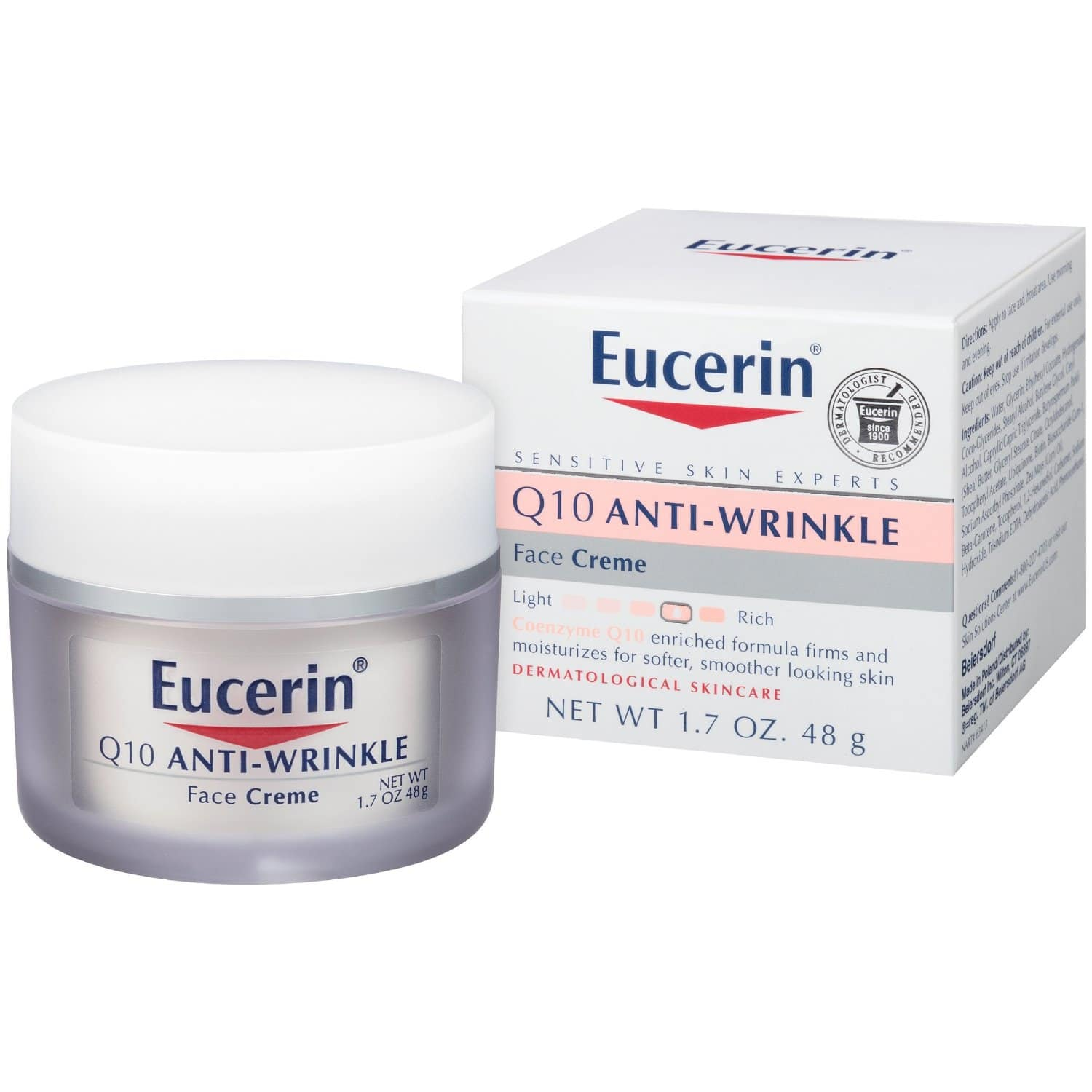 Amazon has Eucerin Q10 Anti-Wrinkle Sensitive Skin Creme 1.7 Ounce for $5.64