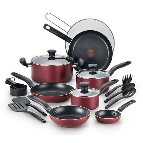Kohl's Cardholders: 20-Piece T-Fal Nonstick Aluminum Cookware Set  $49 + Free Shipping