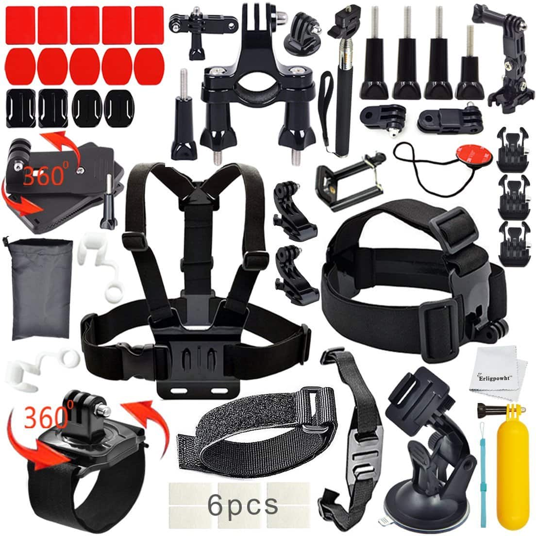 $8.99 - Outdoor Sports Kit Ultimate Combo Kit w/ 40 Accessories for GoPro