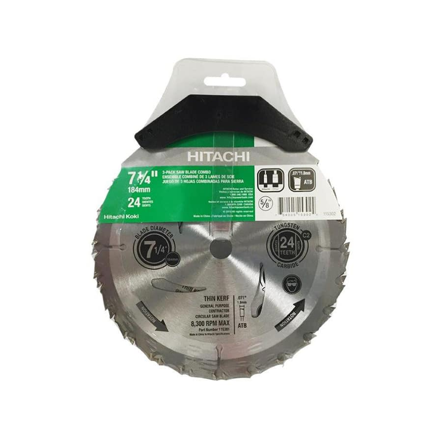 "Hitachi 7 1/4"" 24T Saw Blades: 3 Pack for $8.48 @ Lowes - YMMV"