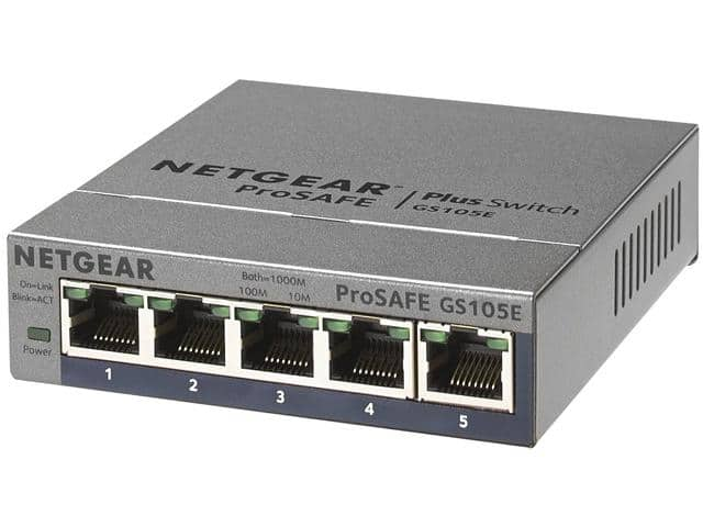 5-Port Netgear ProSafe GS105E Gigabit Plus Switch  $13 after $10 Rebate + Free S&H