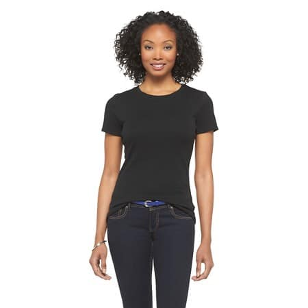 Target - Merona Women's 100% Cotton Ultimate Crew T-Shirt $3.15 + FS (Save 65%)