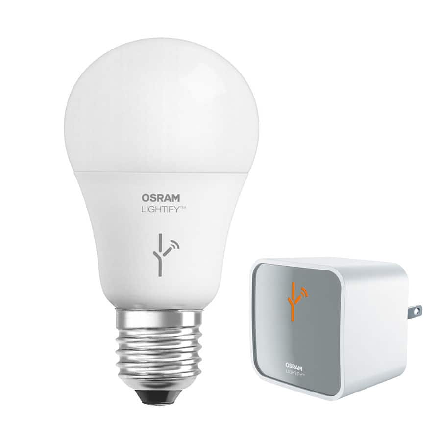 Sylvania lightify a19 led light bulb smart connected starter kit deal image aloadofball Gallery
