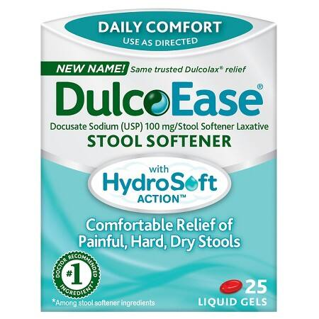 25 Count Dulcolax Gentle Stool Softener Liquid Gels