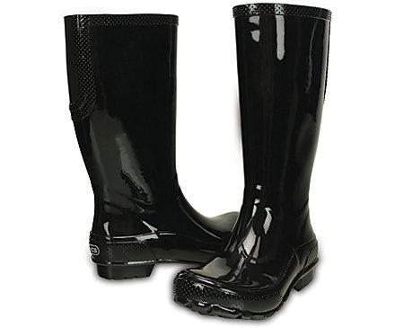 Crocs: Extra 35% Off: Women's Sienna Shiny Flat or Tall Rain Boots ...