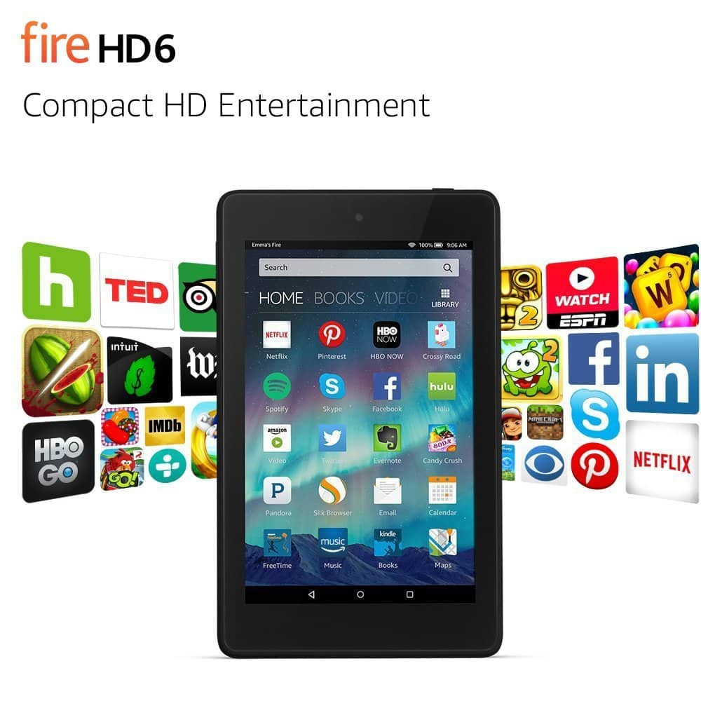 8GB Amazon Fire HD 6 WiFi Tablet w/ Special Offers (Used: Good) $23