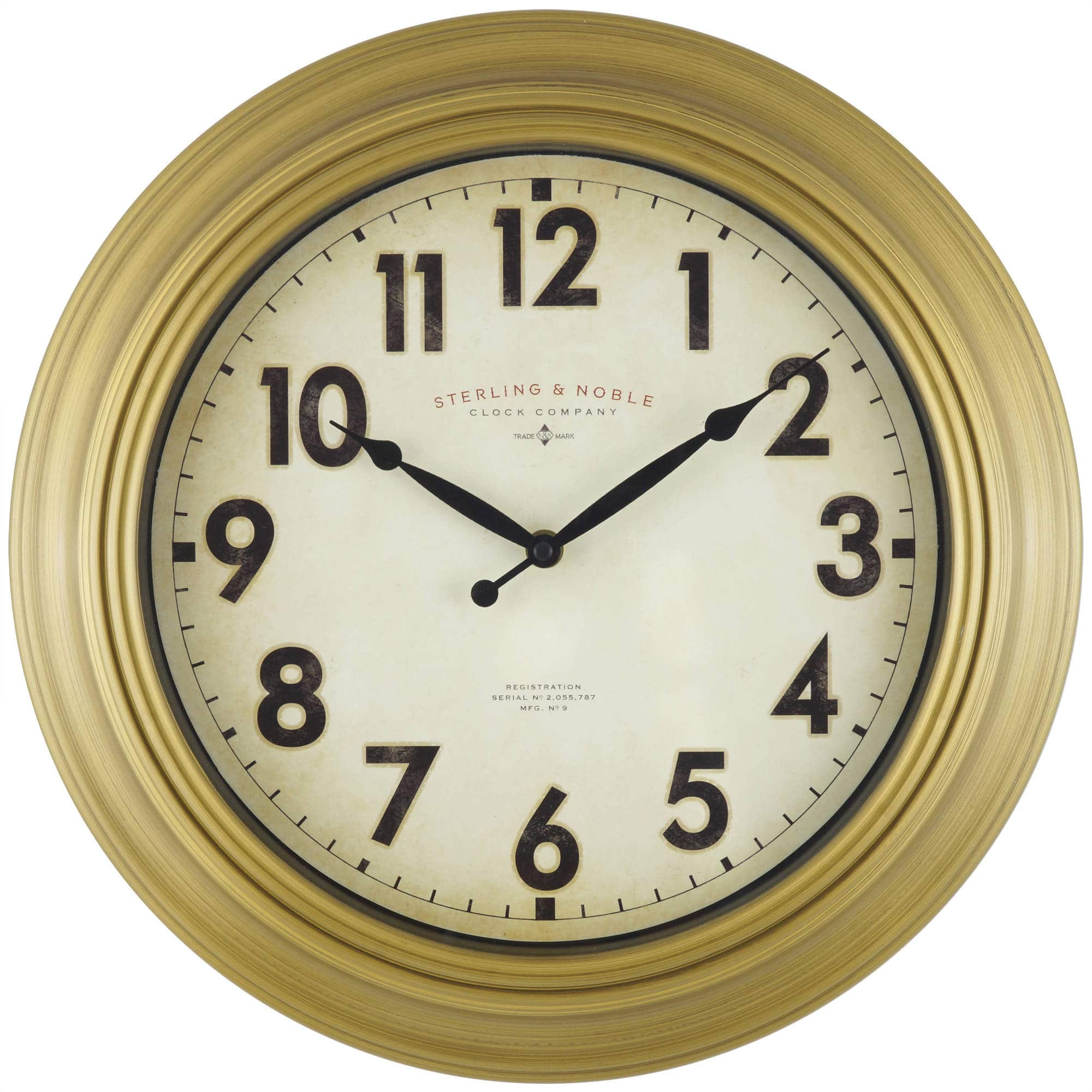 mainstays wall clocks 11 5 mainstays gold wall clock. Black Bedroom Furniture Sets. Home Design Ideas